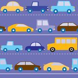 Cars on the road pattern Royalty Free Stock Photo