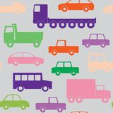 Cars on the road pattern Stock Image