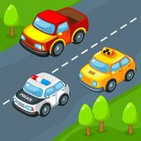 Cars on the road. Royalty Free Stock Photos