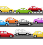 Cars on Road. Transport Background Royalty Free Stock Photos