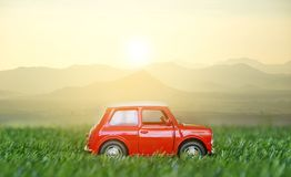 Cars on the road travel holiday summer go relax. Sunlight Royalty Free Stock Photos