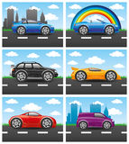 Cars on the road. Stock Images