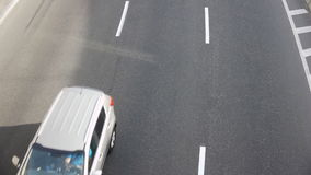 Cars On The Road View From Above. Cars On The Road On The Sunny Day, View From Above stock footage
