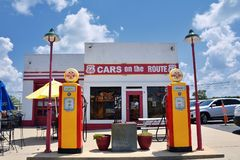Cars on the Route in Galena, Kansas. Royalty Free Stock Photo