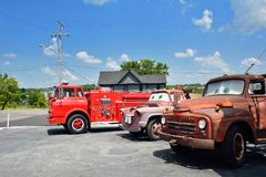 Cars on the Route in Galena, Kansas. Royalty Free Stock Image