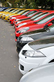 Cars in row Royalty Free Stock Photos