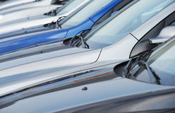 Cars in row Stock Photo