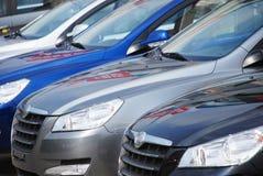 Cars row Stock Photo