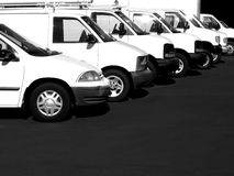 Cars in a Row Royalty Free Stock Images