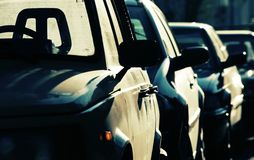 Cars in row Stock Photography