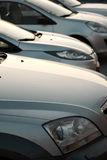 Cars in a row. Car dealership Stock Image