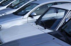 Cars in a row. Car dealership Stock Photo