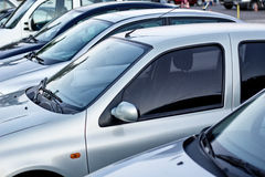 Cars in a row. Car dealership Stock Photography