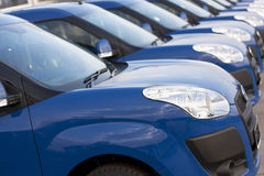 Cars in a row Stock Image