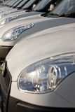 Cars in a row Royalty Free Stock Image