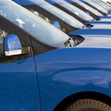 Cars in a row Stock Photography