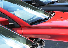 Cars. Row of cars for sale Royalty Free Stock Photos