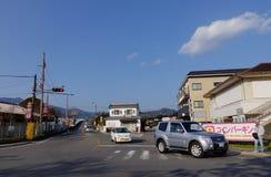 Cars run on street at countryside in Osaka, Japan Royalty Free Stock Photo