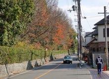 Cars run on street in Nikko, Japan Royalty Free Stock Photo