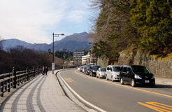 Cars run on street in Takayama, Japan Stock Photography