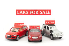Cars for sale Royalty Free Stock Image