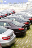 Cars for sale. Row of cars for sale Royalty Free Stock Photo