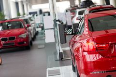 Cars for sale royalty free stock images