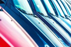 Cars For Sale Closeup Royalty Free Stock Images