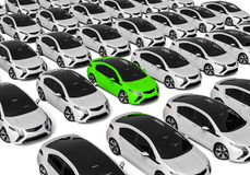 Cars for sale. 3D render image representing cars for sale concept Royalty Free Stock Photos