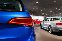 Cars for sale. Cars in showroom for sale Stock Image