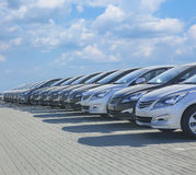 Cars For Sale Stock Lot Row Royalty Free Stock Images