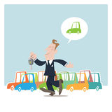 Cars salesman Royalty Free Stock Photography