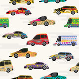 Cars seamless background Stock Images