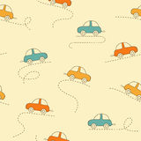 Cars seamless background Royalty Free Stock Photos