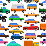 Cars Seamless Pattern Royalty Free Stock Images