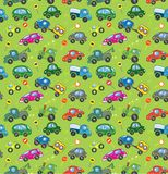 Cars. Seamless pattern. Royalty Free Stock Image