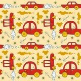 Cars Seamless pattern. Royalty Free Stock Photo