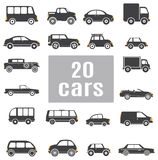 Cars. Set icons Royalty Free Stock Photo