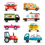 Cars Set. Vector Car Collection. Isolated on White Background Stock Photo