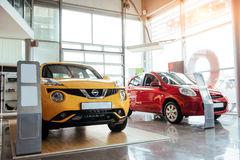 Cars in the showroom at the exhibition Royalty Free Stock Image