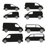 Cars silhouette set Royalty Free Stock Photography