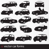 Cars silhouette Stock Images