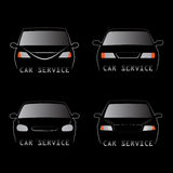 Cars silhouettes Stock Photo