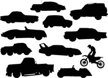 Cars silhouettes Royalty Free Stock Photos