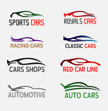 Cars Silhouettes and Logo Royalty Free Stock Photography