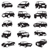 Cars silhouettes Stock Photography