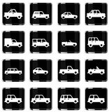 Cars simply icons Royalty Free Stock Photography