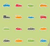 Cars simply icons. Cars simply simply symbols for web and user interface Royalty Free Stock Photos