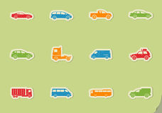 Cars simply icons. Cars simply simply symbols for web and user interface Royalty Free Stock Images