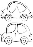 Cars sketches isolated on white Stock Photos
